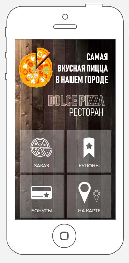 Приложение для пиццерии