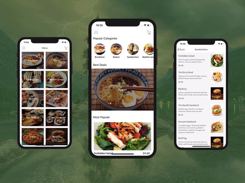 Мобильное приложение для ресторанов, кафе с доставкой еды
